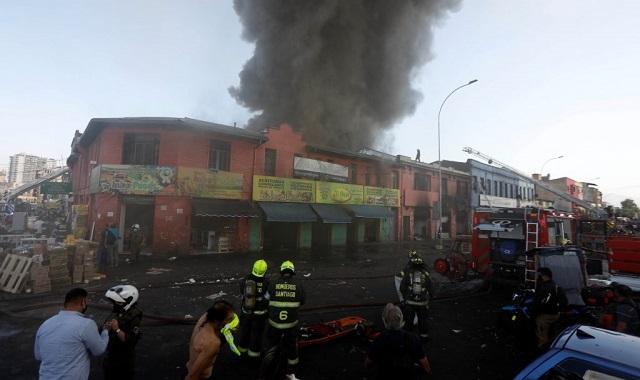 Incendio Vega Central Santiago